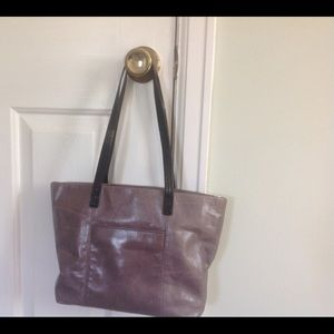 Genuine leather tote.